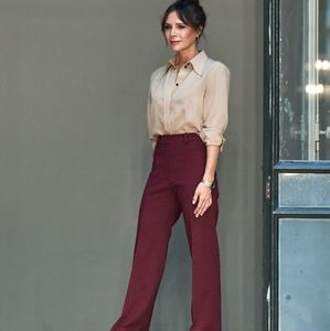 Vintage burgundy high waisted trousers (modern 8)